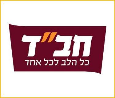 """לוגו של אירגון חב""""ד - הסבר על פעילות האירגון מופיע ליד התמונה"""
